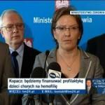 Minister Zdrowia Ewa Kopacz na konferencji prasowej