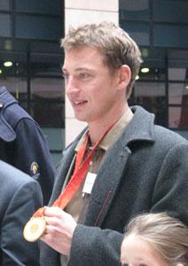 Michał Jeliński i jego największe trofeum – złoty medal olimpijski